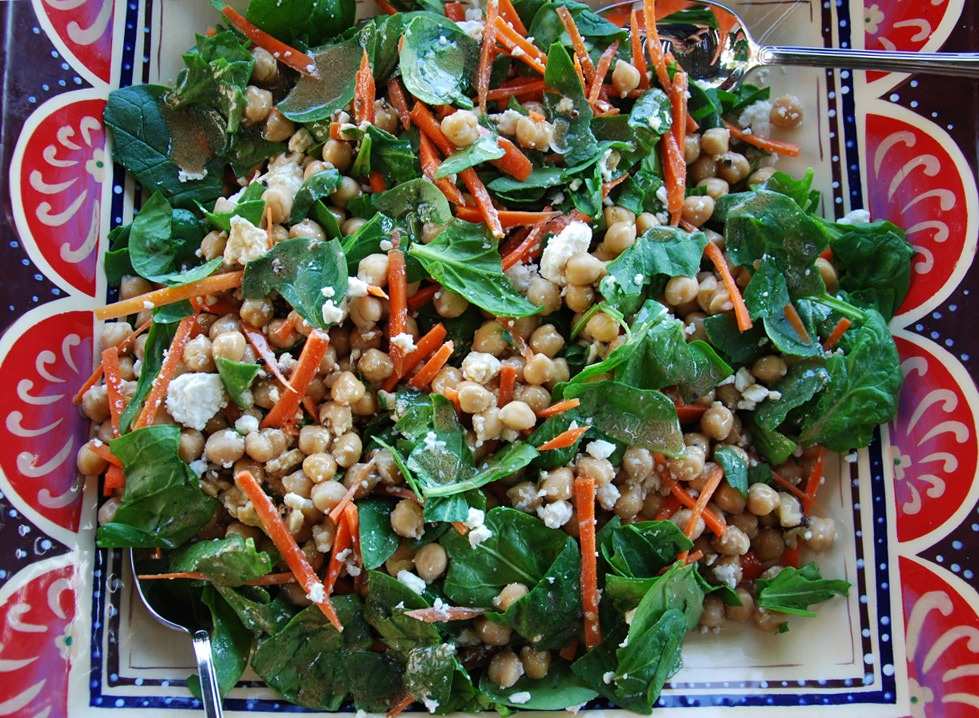 spinach-chickpea-salad